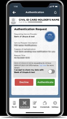 Kuwait Mobile ID PACI, Hawyti PACI, Digital Civil ID, iiQ8, Mobile Based Civil ID 5