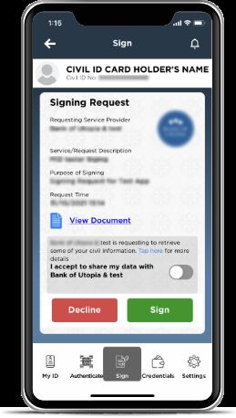 Kuwait Mobile ID PACI, Hawyti PACI, Digital Civil ID, iiQ8, Mobile Based Civil ID 7